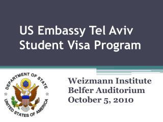 US Embassy Tel Aviv Student Visa Program