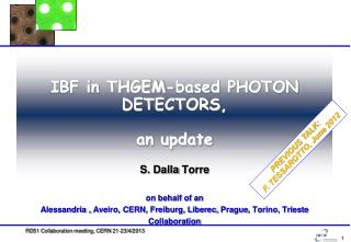 IBF in THGEM-based PHOTON DETECTORS,  an update