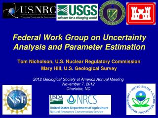 Federal Work Group on Uncertainty Analysis and Parameter  Estimation