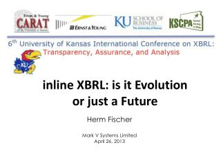 i nline XBRL: is it  Evolution  or just a  F uture