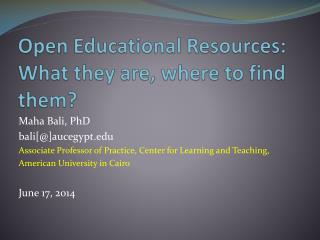 Open Educational Resources: What they are, where to find them?
