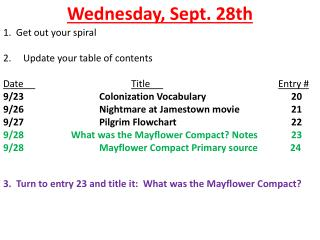 Wednesday, Sept. 28th