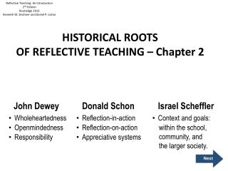 HISTORICAL ROOTS OF REFLECTIVE TEACHING – Chapter 2