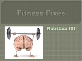 Fitness Fixes