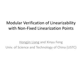 Modular Verification of  Linearizability with Non-Fixed Linearization Points