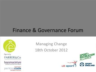 Finance & Governance Forum