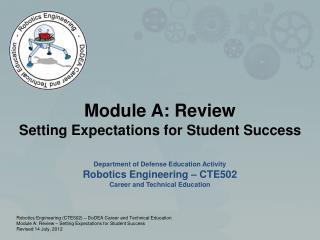 Module A: Review Setting Expectations for Student Success