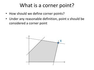 How should we define corner points?