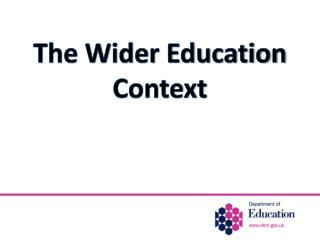 The Wider Education Context