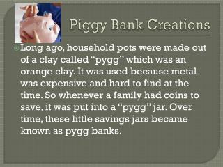 Piggy Bank Creations
