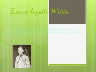 Laura Ingalls Wilder