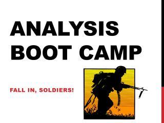 Analysis Boot Camp