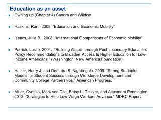 Education as an asset
