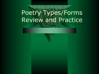 Poetry Types/Forms Review and Practice