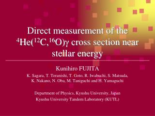 Direct measurement of the  4 He( 12 C, 16 O) g  cross section near stellar energy