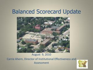 Balanced Scorecard Update
