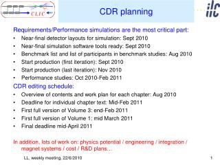 CDR planning