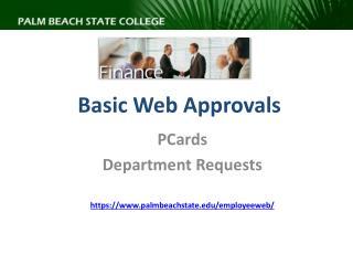 Basic Web Approvals