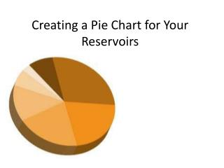 Creating a Pie Chart for Your Reservoirs