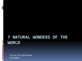7 Natural Wonders of the World