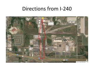 Directions from I-240