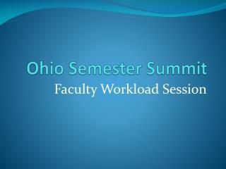 Ohio Semester Summit