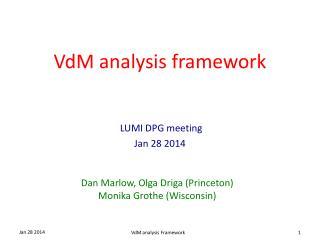 VdM analysis framework