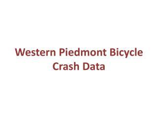 Western Piedmont Bicycle Crash Data