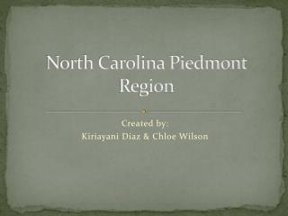 North Carolina Piedmont Region