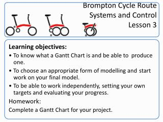 Brompton  Cycle Route Systems and Control Lesson 3