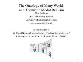 The Ontology of Many Worlds and Thomistic Modal Realism