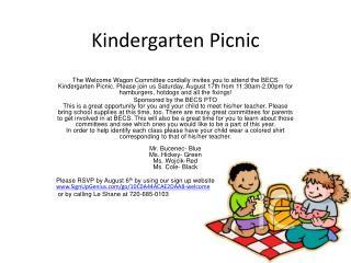 Kindergarten Picnic