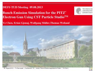 Bunch Emission Simulation for the PITZ *  Electron Gun Using CST Particle Studio TM