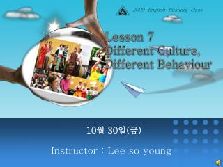 Instructor : Lee so young