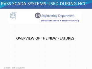PVSS SCADA SYSTEMS USED DURING HCC