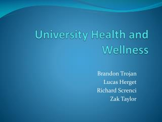 University Health and Wellness
