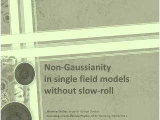 Non- Gaussianity in single  field models without  slow-roll