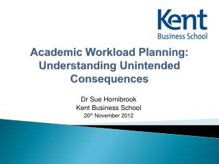 Academic Workload Planning: Understanding Unintended Consequences