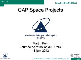 CAP Space Projects