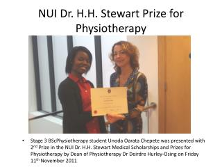 NUI Dr. H.H. Stewart Prize for Physiotherapy