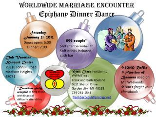 Worldwide Marriage Encounter  Epiphany Dinner Dance