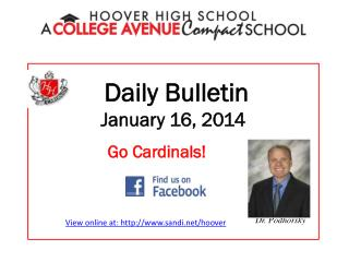 Daily Bulletin January 16, 2014