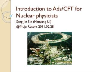 Introduction to Ads/CFT for Nuclear physicists