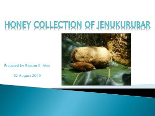 Honey Collection of  Jenukurubar