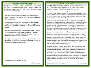 -Significant Concept(s)-
