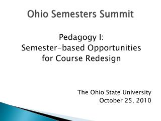 Ohio Semesters Summit