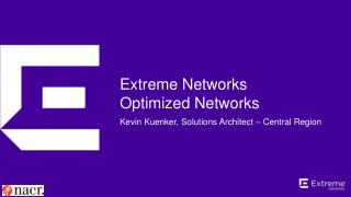 Extreme Networks Optimized Networks