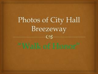 Photos of City Hall Breezeway