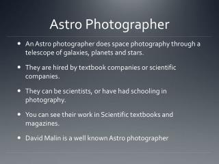 Astro  Photographer
