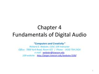 Chapter 4 Fundamentals of Digital Audio